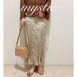 mystic - 僅か⚠️AW新作🐰¥7020【mystic】ワッシャーサテンスカート