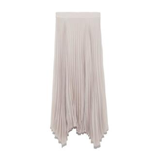 ミラオーウェン(Mila Owen)のミラオーウェン サイドロングヘムプリーツスカート(ロングスカート)
