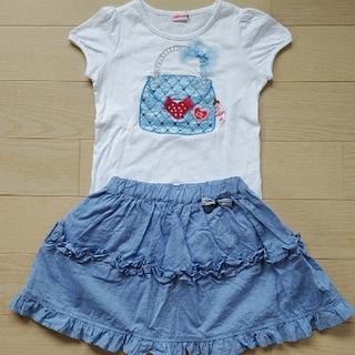 mikihouse - ミキハウス リーナちゃん Tシャツ ファミリア パンツ付スカート 110cm