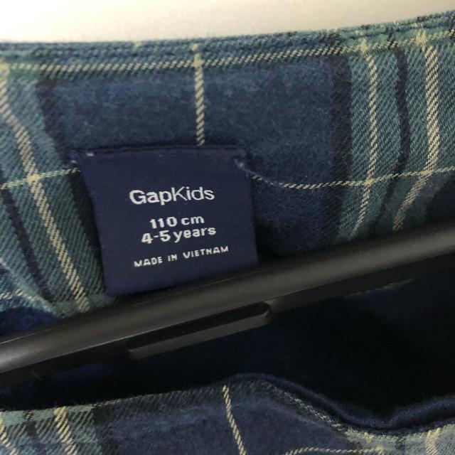 GAP Kids(ギャップキッズ)の【Gapkids】チェック柄ワンピース 110cm キッズ/ベビー/マタニティのキッズ服 女の子用(90cm~)(ワンピース)の商品写真