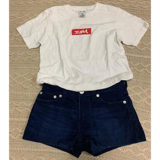 エックスガール(X-girl)の【X-girl】Tシャツ、ショートパンツ2点set(Tシャツ(半袖/袖なし))