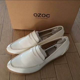 OZOC - 【24.5㎝】新品!OZOC★オゾック★ローファー★ホワイト