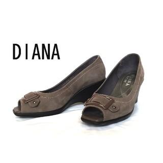 DIANA - ダイアナ パンプス スエード グレー  23cm 美品