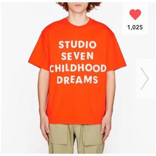 ジーユー(GU)の新品未使用 GU×STUDIOSEVEN ビッグT オレンジ M NAOTO(Tシャツ/カットソー(半袖/袖なし))