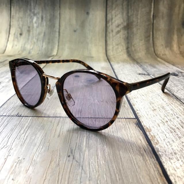 流行りのメタコン!パープルライトレンズ ボストン メンズのファッション小物(サングラス/メガネ)の商品写真