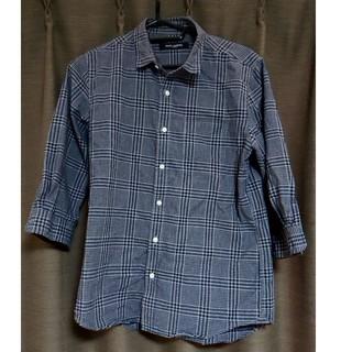 ナノユニバース(nano・universe)のナノ・ユニバース 7部袖シャツ Mサイズ 美品 メンズ(Tシャツ/カットソー(七分/長袖))