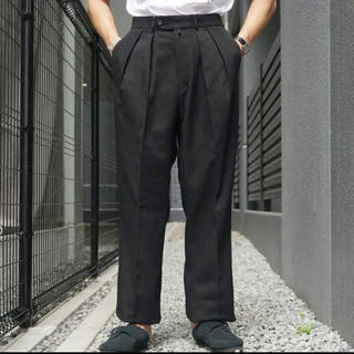 COMOLI - neat cotton kersey black wide 44 美品