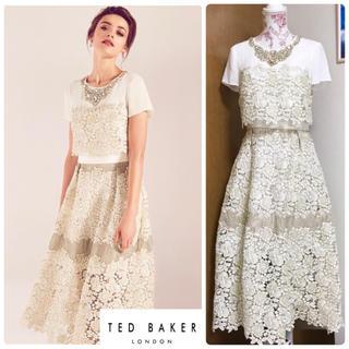 TED BAKER - 新品 Sheer Panel Embellished DRESS