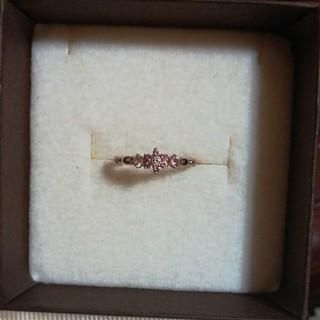 スタージュエリー K10 ピンクサファイア お花 フラワー ピンキーリング(リング(指輪))