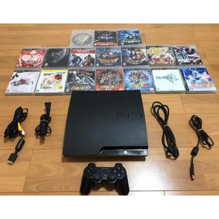 PlayStation3 - PS3本体(250GB)+専用ソフト17本さらにHDMIケーブル付☆