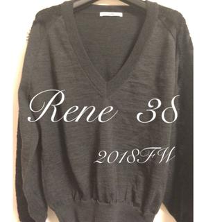 ルネ(René)のルネ 38 美品 黒レース 送料込 ニット Rene (ニット/セーター)