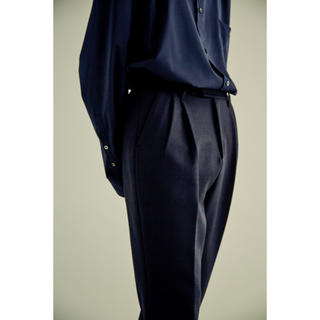 SUNSEA - stein 18AW TWO TUCK TROUSERS 黒 M 試着のみ