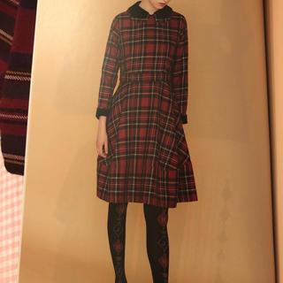 ジェーンマープル(JaneMarple)のJane Marple wool tartan dormitory dress(ひざ丈ワンピース)