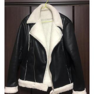 Balenciaga - ファーライダースジャケット