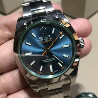 ROLEX - ロレックスグリーンガラス機械式時計