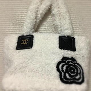 CHANEL - 本日限定出品☆モコモコ☆バッグ☆ホワイト☆ノベルティ