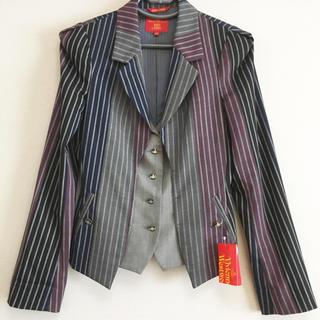 Vivienne Westwood - 美品 Vivienne  Westwood ストライプ 切替 ジャケット