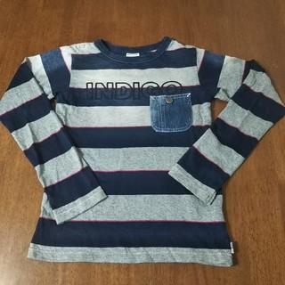 BREEZE - 美品 BREEZE 長袖 Tシャツ130140 デニム紺グレー インディゴ 男