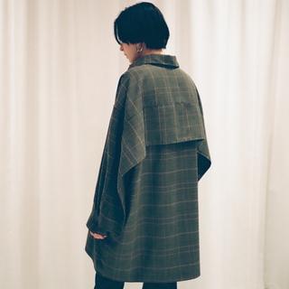 エンフォルド(ENFOLD)の新品 CLANE BACK FRILL CHECK SHIRTS ブラック(シャツ/ブラウス(長袖/七分))