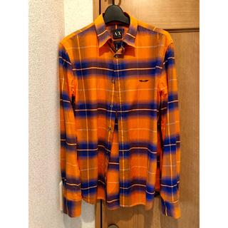 ARMANI EXCHANGE - 購入前コメント必須 大変お洒落 チェックシャツ コットンシャツ