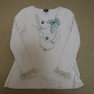 バービー(Barbie)のBarbieバービー★長袖カットソーTシャツ★サイズ1 150㎝★used(Tシャツ/カットソー)