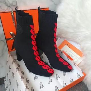 Hermes - HERMES   ブーツ 22.5-24.5cm