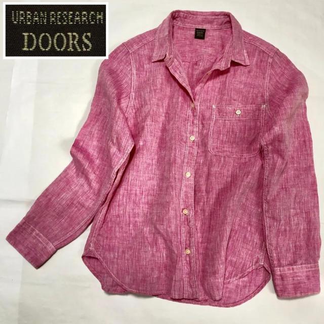 URBAN RESEARCH(アーバンリサーチ)のアーバンリサーチドアーズ きれい色リネン100%シャツ レディースのトップス(シャツ/ブラウス(長袖/七分))の商品写真