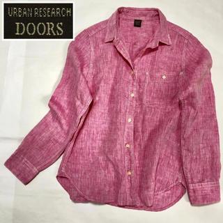 URBAN RESEARCH - アーバンリサーチドアーズ きれい色リネン100%シャツ
