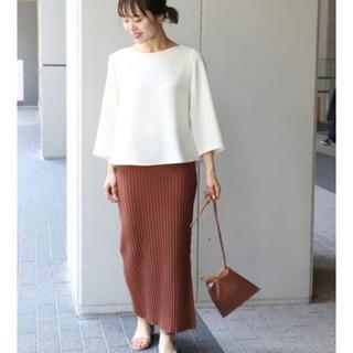 ノーブル(Noble)のNOBLE  * タックリブニットタイトスカート *未使用タグ付き(ロングスカート)