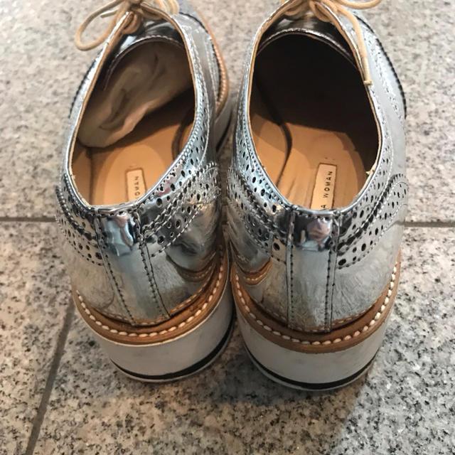ZARA(ザラ)のZara メタリックローファー オックスフォードシューズ レディースの靴/シューズ(ローファー/革靴)の商品写真