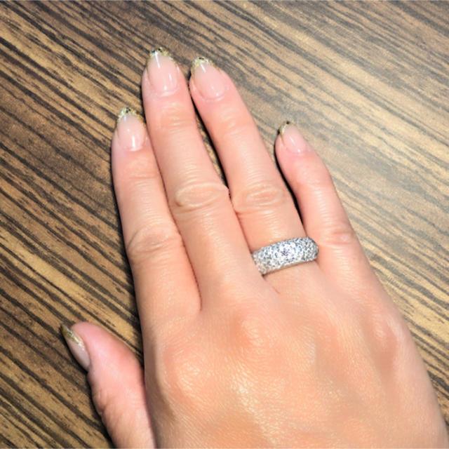 パヴェ ダイヤモンドリング  1カラット  レディースのアクセサリー(リング(指輪))の商品写真