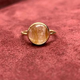 新品 ルチルクォーツ  K18イエローゴールド リング(リング(指輪))