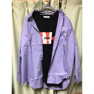 新品 ビッグシャツ 紫 パープル オーバーサイズ シャツ 韓国ファッション