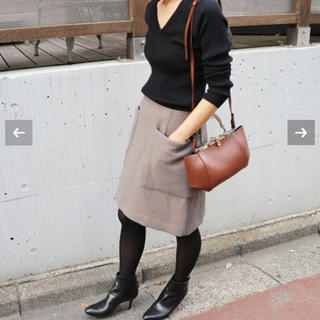 IENA - 美品★IENA♪ソフトモッサー台形スカート グレー34
