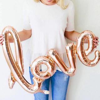 loveバルーン♡シャンパンゴールド♡結婚式や記念日の撮影アイテムに♡送料無料