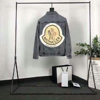 モンクレール(MONCLER)の新作新品 カッコいい ロゴ 極美品 ロゴ 男女兼用 Gジャン(Gジャン/デニムジャケット)