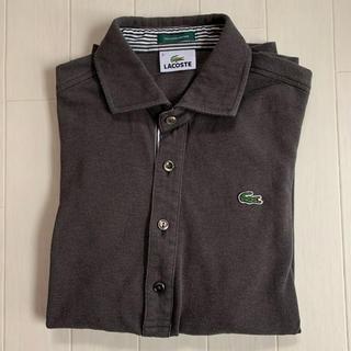 LACOSTE - ラコステ 七分袖 ポロシャツ  Mサイズ グレー