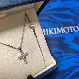 ミキモト(MIKIMOTO)の限定 ミキモト クロスダイヤモンド ペンダント(ネックレス)