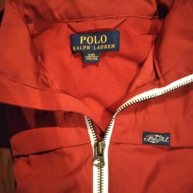 POLO RALPH LAUREN(ポロラルフローレン)のPOLO RALPH LAUREN 140size 赤 ポリエステルパーカー キッズ/ベビー/マタニティのキッズ服 男の子用(90cm~)(ジャケット/上着)の商品写真