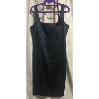 カルバンクライン(Calvin Klein)のカルバンクライン ドレス サテン ワンピース(ミディアムドレス)