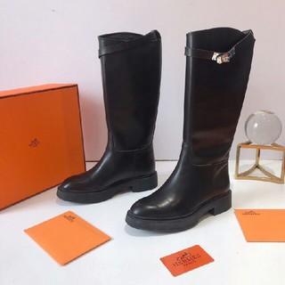Hermes - HERMES ブーツ  22-25cm