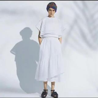 ミュベールワーク(MUVEIL WORK)の美品❗️ミュベール  ケープ付きプルオーバー  サイズ36(Tシャツ(半袖/袖なし))