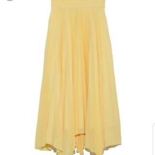 ミラオーウェン(Mila Owen)の新品!ミラオーウェン プリーツスカート スカート イエロー フレイアイディー(ロングスカート)