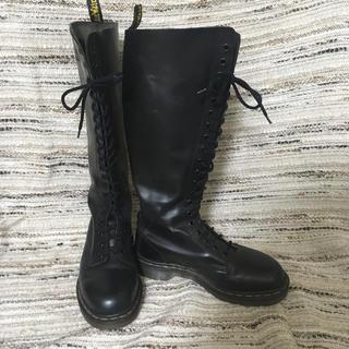 Dr.Martens - DR.MARTENS ENGLAND製 20ホールロングブーツ 黒 size5