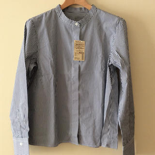MUJI (無印良品) - 無印良品 洗いざらしブロード スタンドカラーシャツ