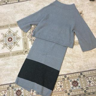 DOUBLE STANDARD CLOTHING - ダブスタ セットアップ ニットグレー