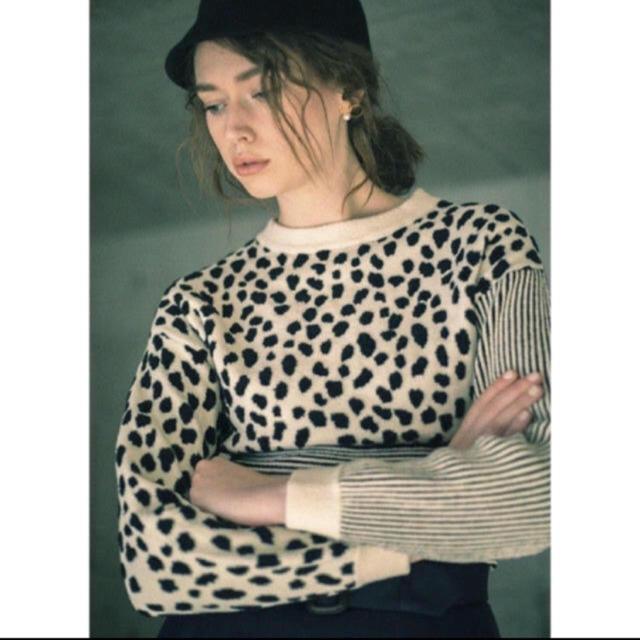 Ameri VINTAGE(アメリヴィンテージ)のameri vintage ニット ヒョウ柄 ミニ ダルメシアン レディースのトップス(ニット/セーター)の商品写真