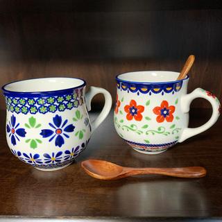 PORSKA マグカップ & 木製スプーン ペアセット