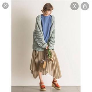 ミラオーウェン(Mila Owen)のミラオーウェン  スーツセットランダムヘムプリーツスカート(ロングスカート)