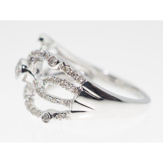 【0.500Cts】K18WGダイヤモンドリング【サイズ直し無料】 レディースのアクセサリー(リング(指輪))の商品写真